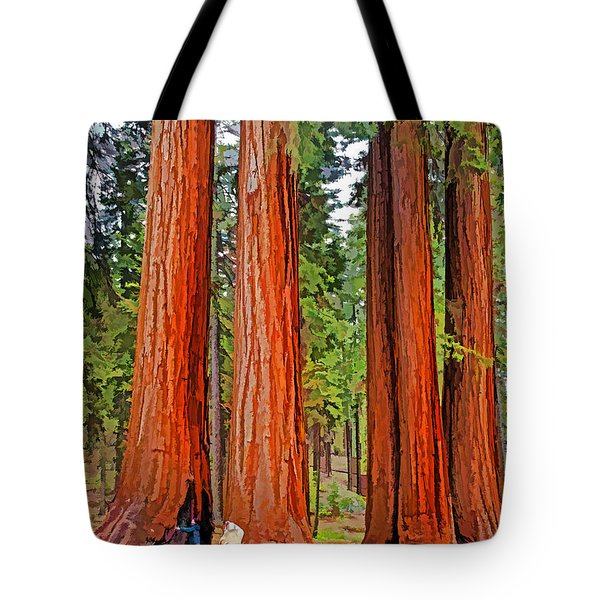 Giant Sequoias Tote Bag by Dennis Cox