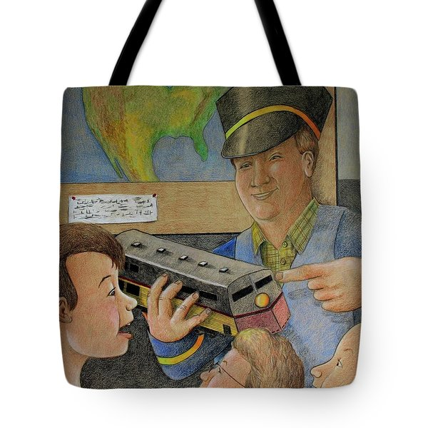Giant Shows The Toy Train Tote Bag