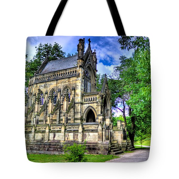 Giant Spring Grove Mausoleum Tote Bag by Jonny D