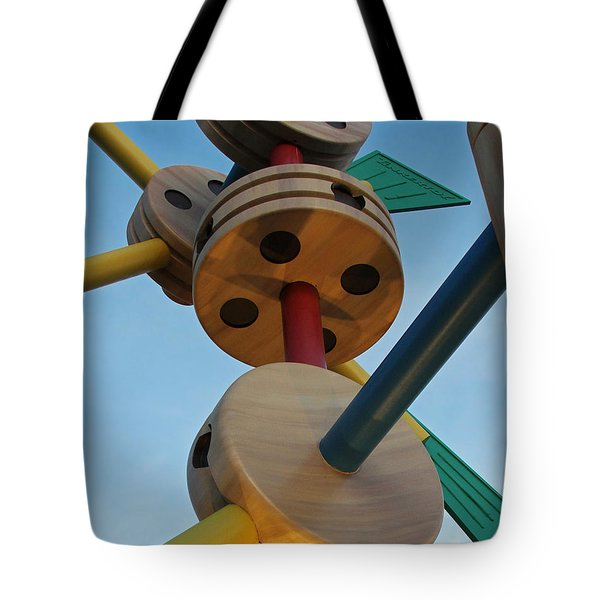 Giant Tinker Toys Tote Bag