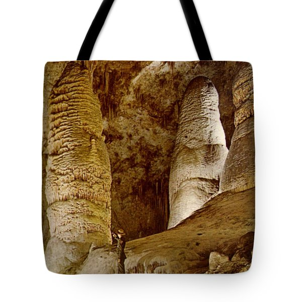 Giant Twin Domes At Carlsbad Caverns  Tote Bag by Ruth  Housley