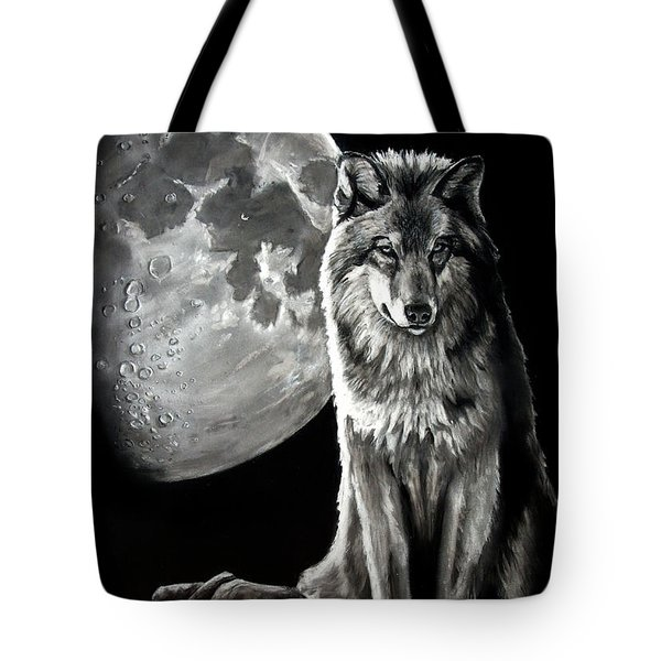 Gibbous Wolf Tote Bag