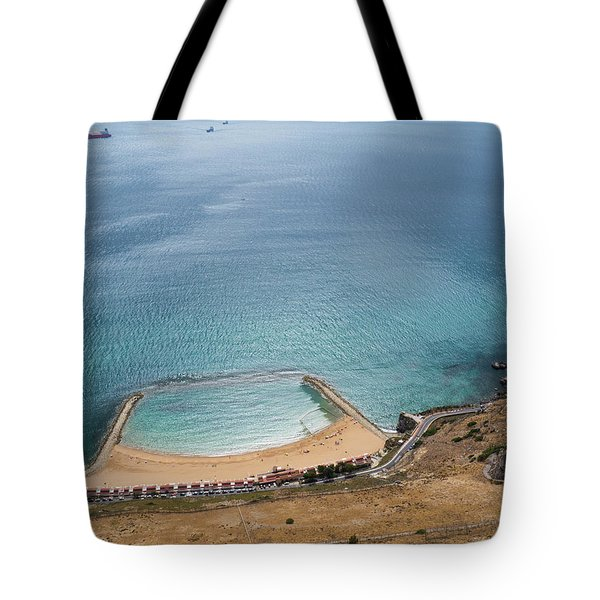 Gibraltar Rock View To The Beach Tote Bag