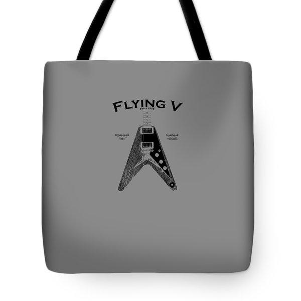 Gibson Flying V Tote Bag by Mark Rogan