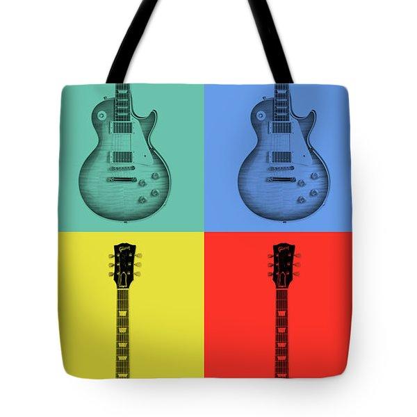 Gibson Guitar Pop Art Tote Bag