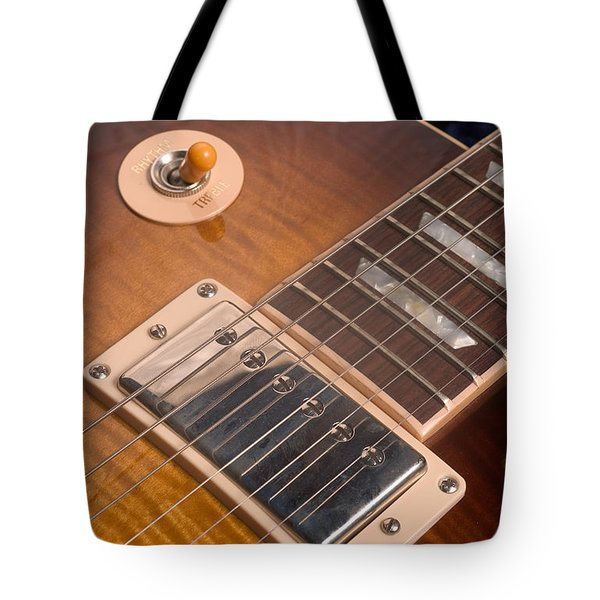Gibson Les Paul Guitar By Gene Martin Tote Bag