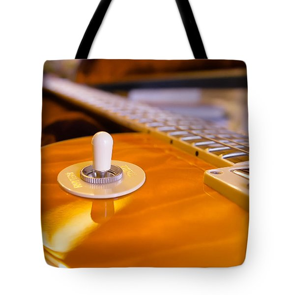 Yellow Quilt Guitar Top Tote Bag