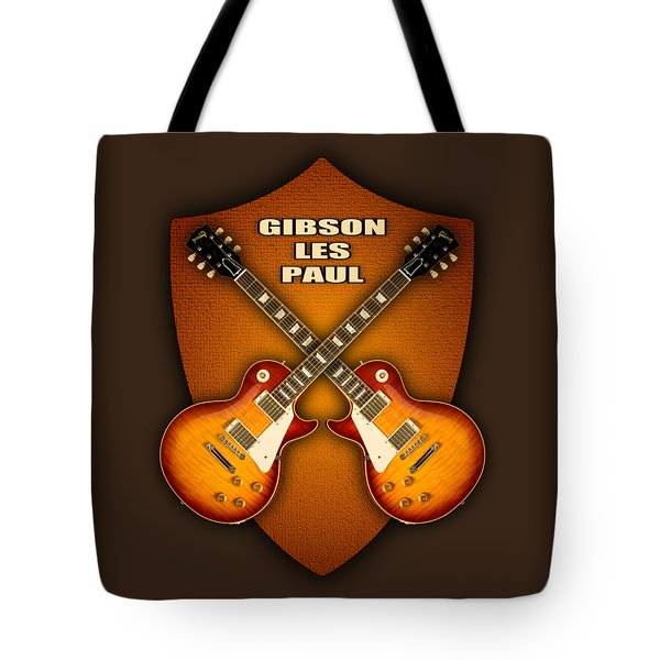Gibson Les Paul Standart  Shield Tote Bag by Doron Mafdoos