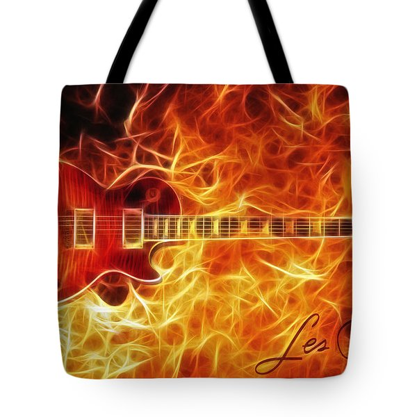 Gibson Les Paul Tote Bag by Taylan Apukovska
