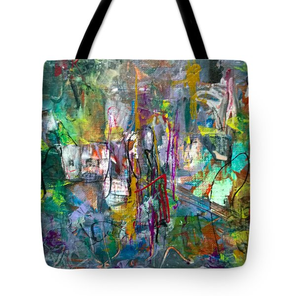Tote Bag featuring the painting Gift From/to Oma by Robert Anderson