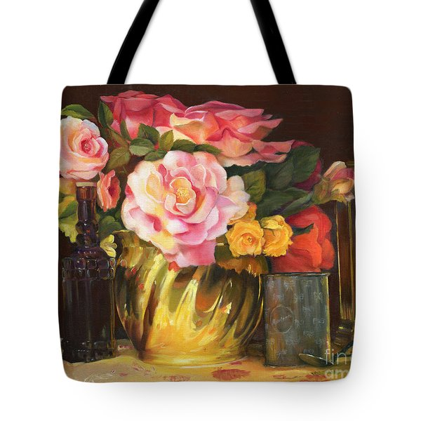 Tote Bag featuring the painting Gift Of Time by Marlene Book