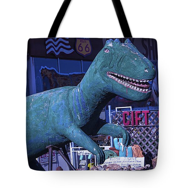 Gift Shop Dinosaur Route 66 Tote Bag