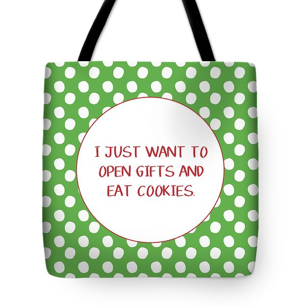Gifts And Cookies- Art By Linda Woods Tote Bag