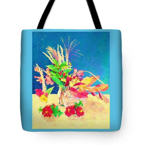 Gifts From The Yard Watercolor Tote Bag by Christina Lihani