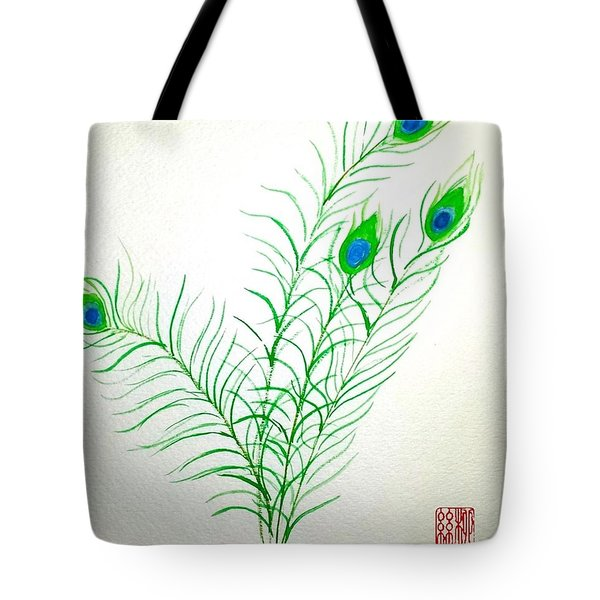 Gifts Of The Peacock Tote Bag