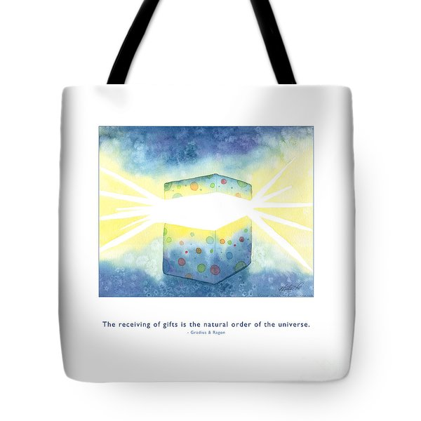 Tote Bag featuring the painting Gifts Of The Universe by Kristen Fox