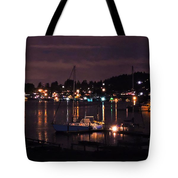 Gig Harbor At Night Tote Bag