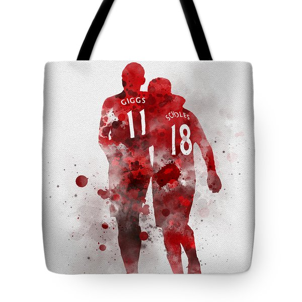 Giggsy And Scholesy Tote Bag