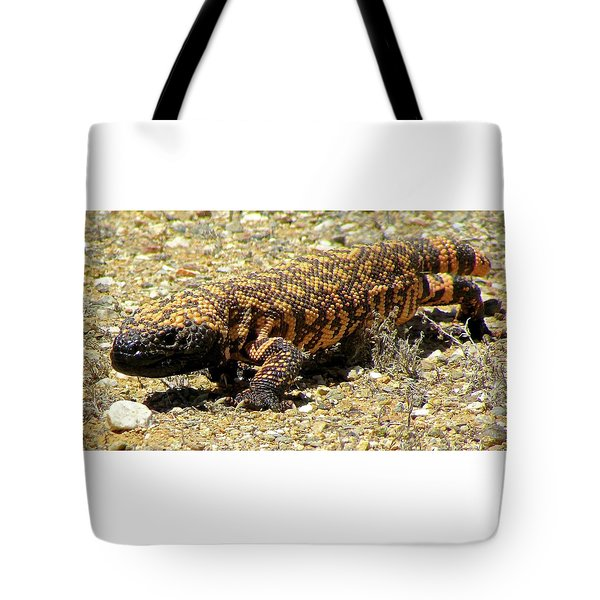 Gila Monster On The Prowl Tote Bag by Brenda Pressnall