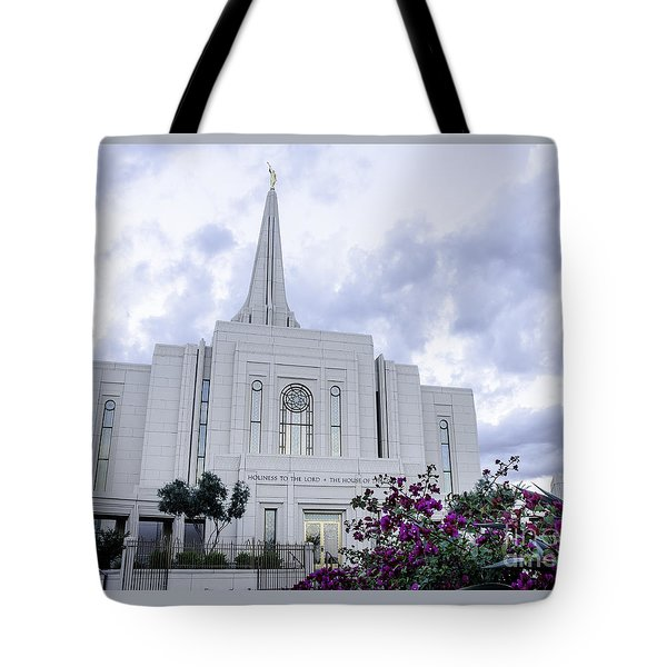 Gilbert Arizona Lds Temple 2 Tote Bag