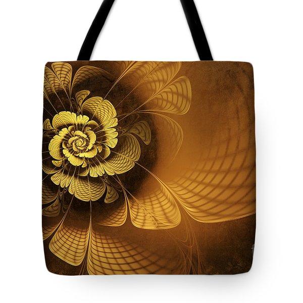 Gilded Flower Tote Bag