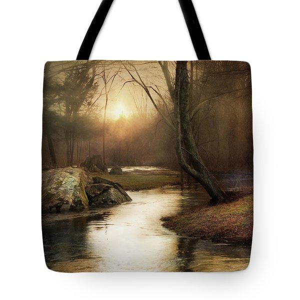 Gilded Woodland Tote Bag