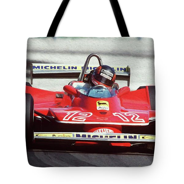 Gilles Villeneuve, Ferrari Legend - 01 Tote Bag