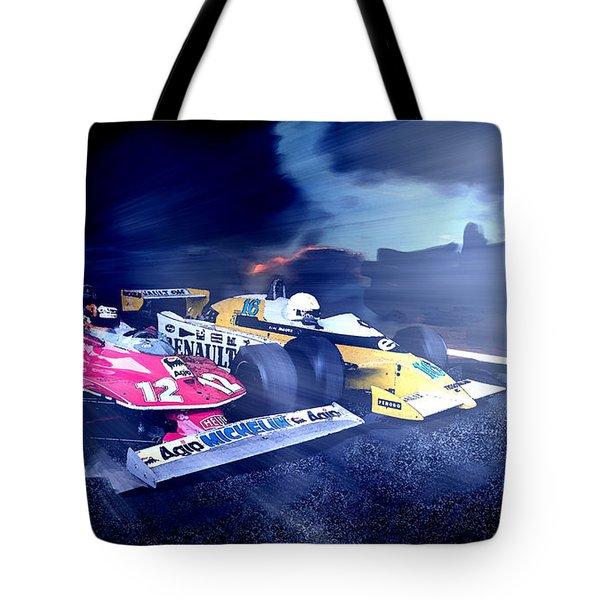 Gilles Villeneuve V Rene Arnoux Tote Bag