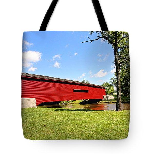 Gilpin's Falls Covered Bridge Tote Bag