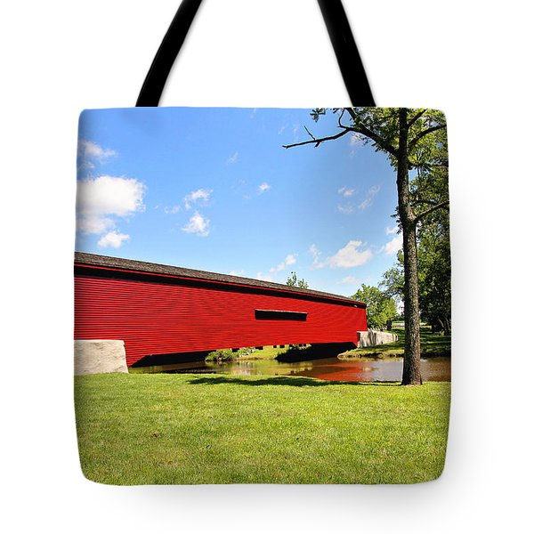 Gilpin's Falls Covered Bridge Tote Bag
