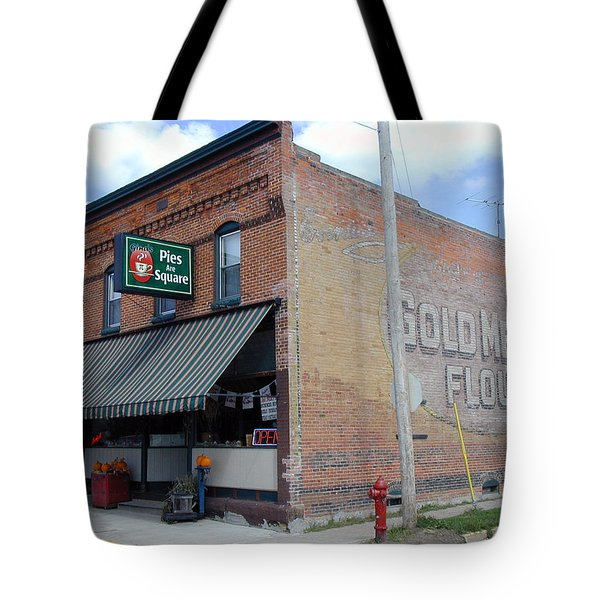 Tote Bag featuring the photograph Gina's Pies Are Square by Mark Czerniec