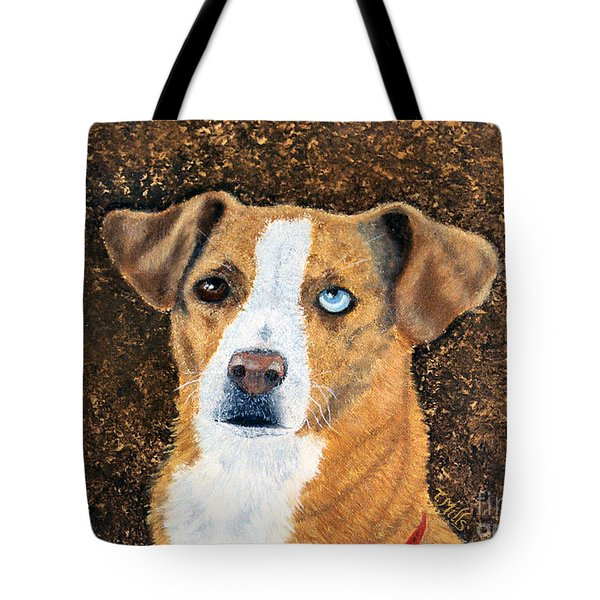 Tote Bag featuring the painting Ginger - Mixed Breed by Terri Mills