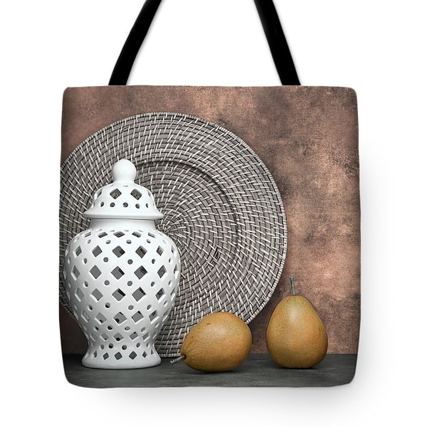 Ginger Jar With Pears I Tote Bag by Tom Mc Nemar