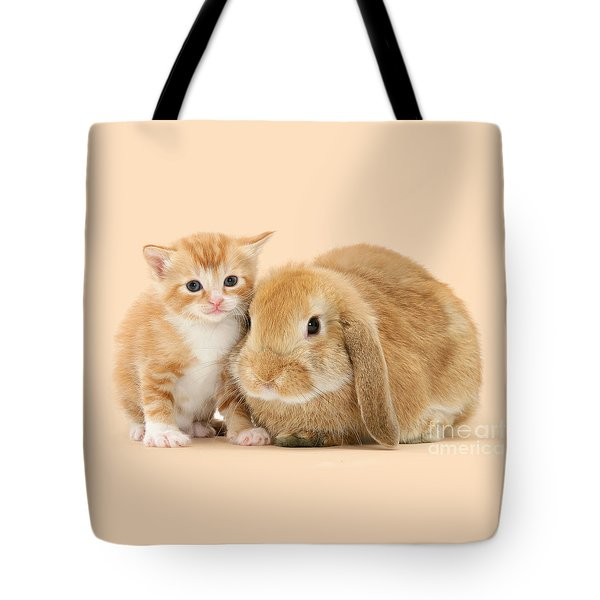 Ginger Kitten And Sandy Bunny Tote Bag