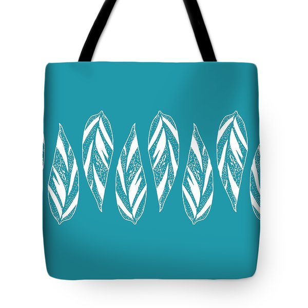 Ginger Leaf Lineup - Teal Tote Bag