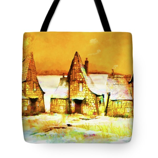 Gingerbread Cottages Tote Bag