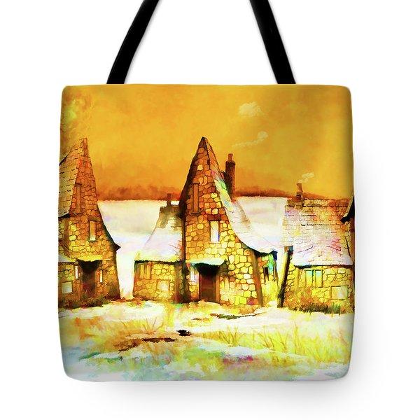 Gingerbread Cottages Tote Bag