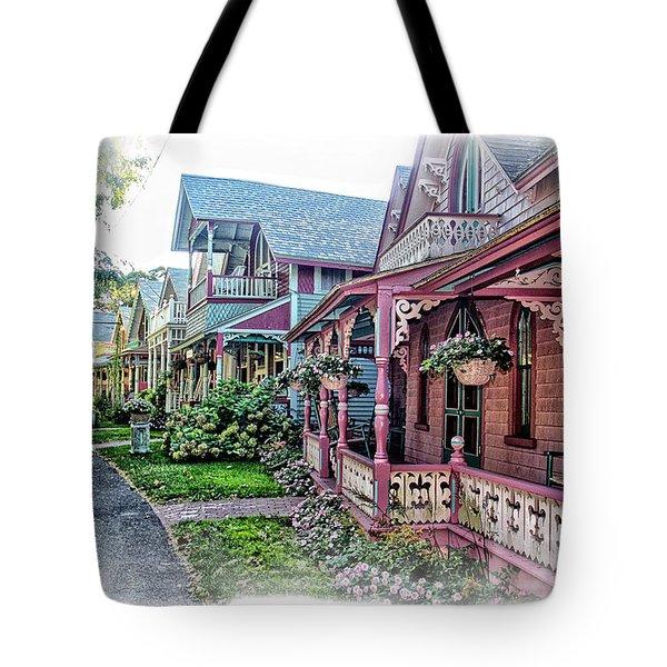 Gingerbread Row Tote Bag
