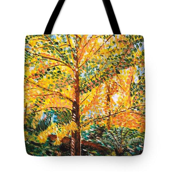 Gingko Tree Tote Bag by Valerie Ornstein