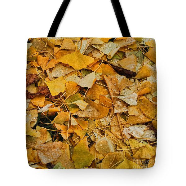Ginko Leaves Cover Your Bed Tote Bag