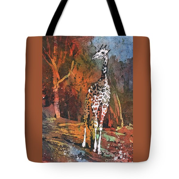 Tote Bag featuring the painting Giraffe Batik II by Ryan Fox