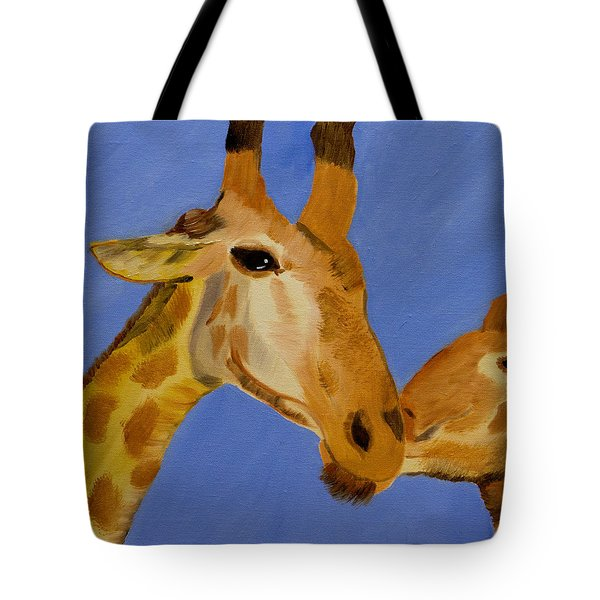 Giraffe Bonding Tote Bag