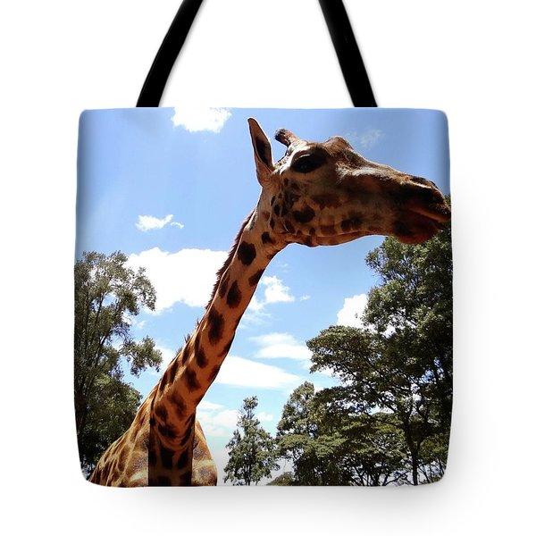 Giraffe Getting Personal 3 Tote Bag