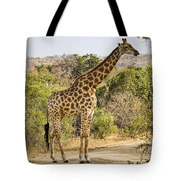 Giraffe Grazing Tote Bag