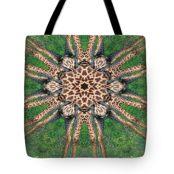 Giraffe Mandala II Tote Bag by Maria Watt