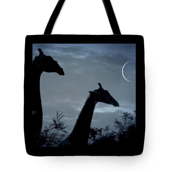 Giraffe Moon  Tote Bag