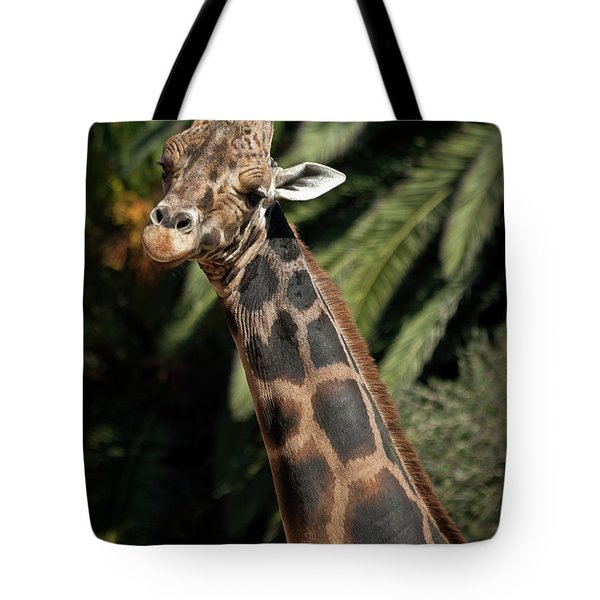 Tote Bag featuring the photograph Giraffe Study 2 by Roger Mullenhour