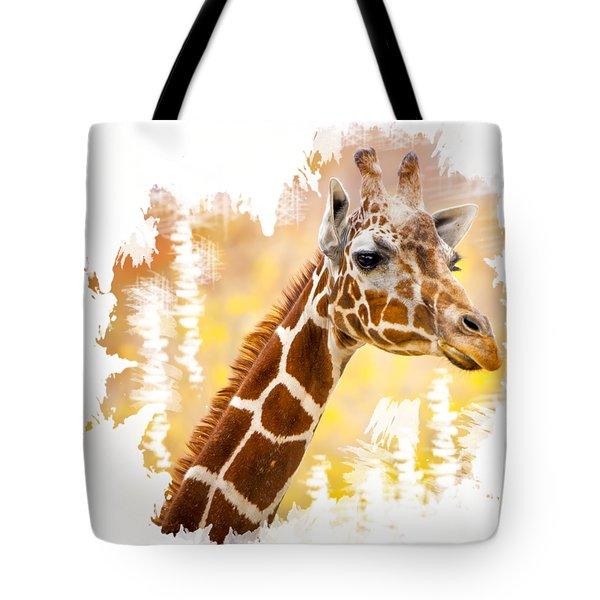 Giraffe T-shirt Tote Bag