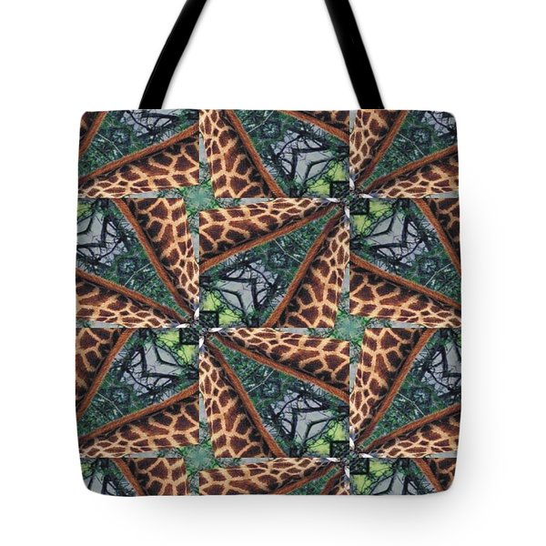 Giraffe Through The Window Tote Bag