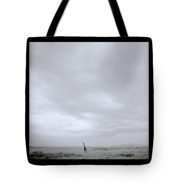Giraffe Under Big Sky Tote Bag by Shaun Higson